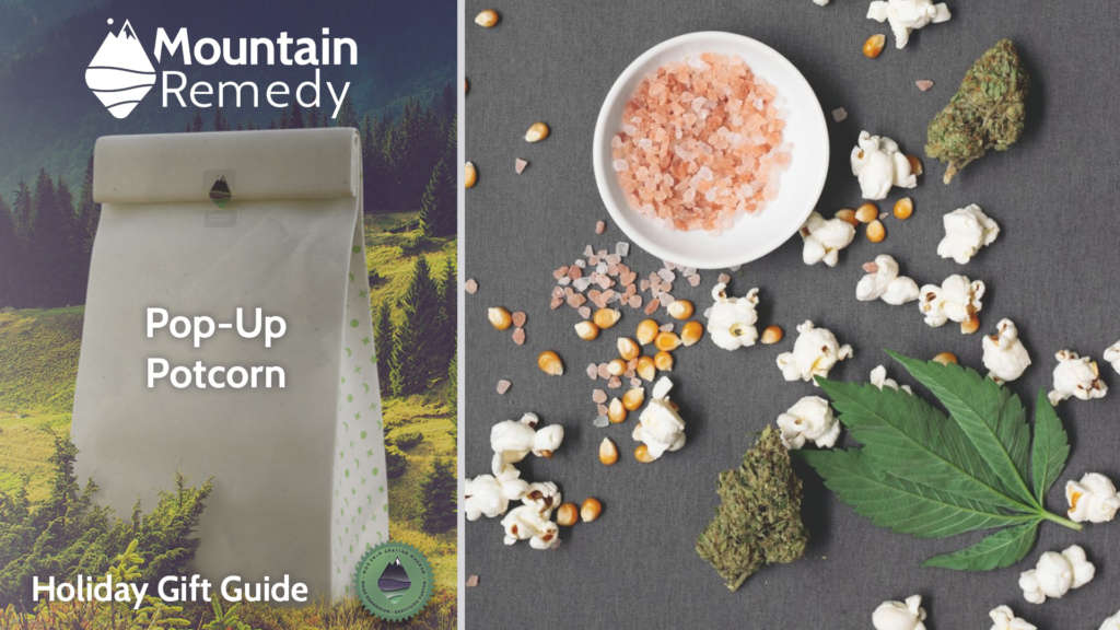 Holiday gift guide for 2020 - Pop-up THC and CBD infused Popcorn ready for delivery