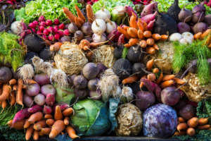 fresh farmers market produce
